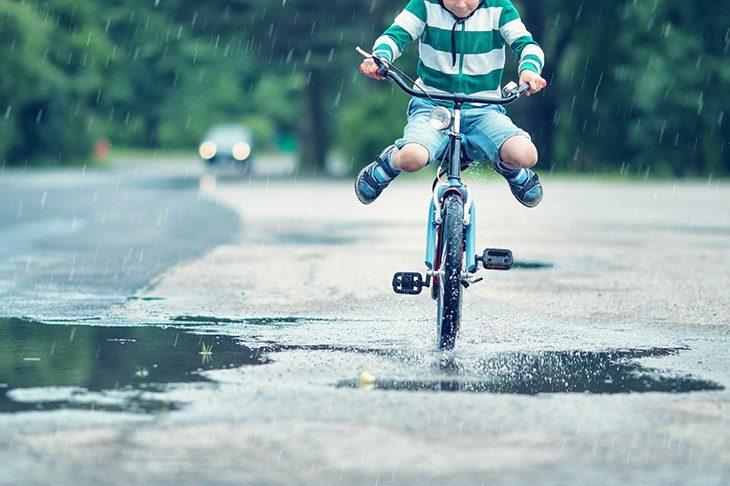 Kolesarjenje v dežju