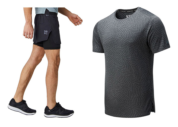 """New Balance: kratke tekaške hlače (Q Speed 5"""" 2 in 1) in majica Speed (Jacquard SS)"""